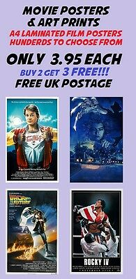 Movie Poster Collection 12:Laminated:A4:!!!!!!!!!Buy 2 Get 3 FREE!