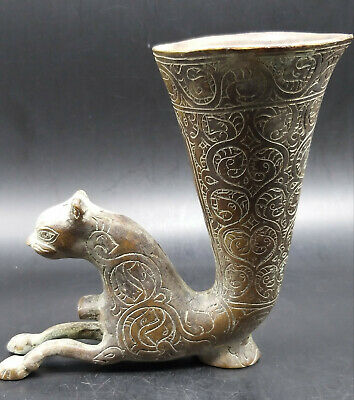 Wonderfull Very Old Excellenr Qulity Hand Craved Bronze Lion Rythion
