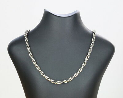 Danish silver necklace twisted links made by Randers Silversmith