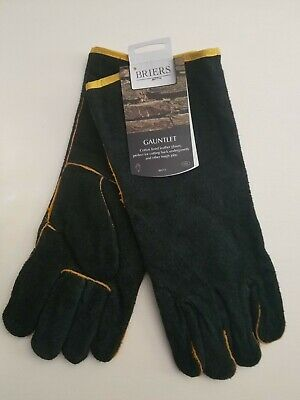 Briars leather B2012 gauntlet protective gardening gloves,large