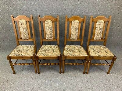 Old Charm Oak Dining Chairs 4 Kitchen Chairs Quality - Delivery Available