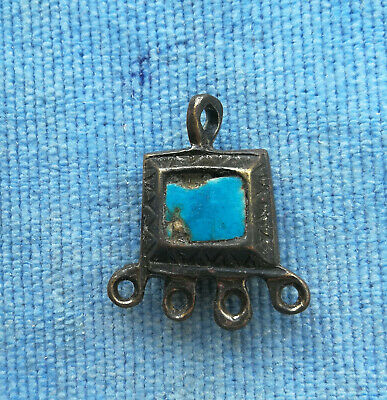 Ancient Viking Bronze pendant AMULET with Enamel GREAT SAVE VERY RARE