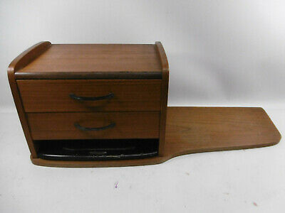 Desk Pad the 60's Wood Teal Drawers Office