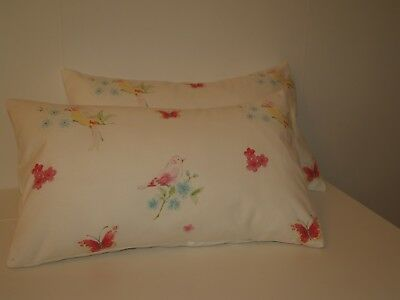 LAURA ASHLEY STRAWBERRY PAIR OF BOLSTER STYLE CUSHION COVERS **VINTAGE//ORIGINAL*