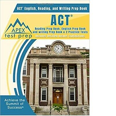 ACT English, Reading, and Writing Prep Book by APEX Test Prep (2019, Paperback)