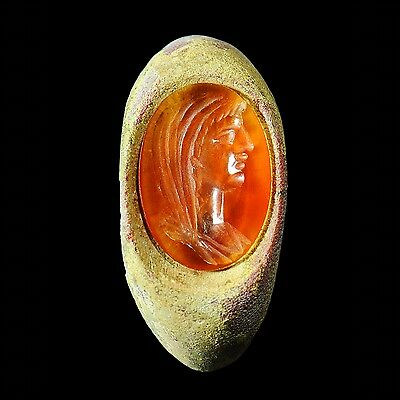 Aphrodite- Ancient Roman Glass Ring