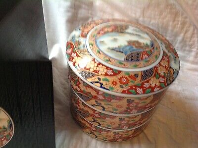 VTG Japanese Stacked Bowls with Lid