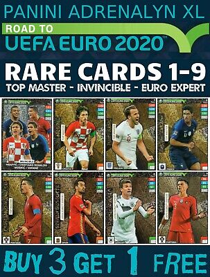 Panini Adrenalyn Xl Road To Euro 2020 Limited Edition Top Master And Rare Cards