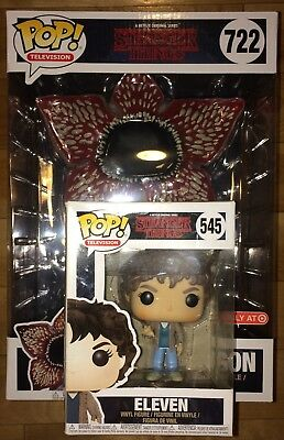 "Funko Pop 10"" Netflix Stranger Things Target Ex. Demogorgon #722 & Eleven #545"