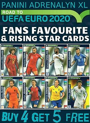Adrenalyn Xl Road To Euro 2020 Fans Favourite & Rising Star Cards