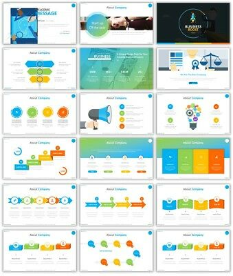 400 PowerPoint Slides With InfoGraphics - CS5035