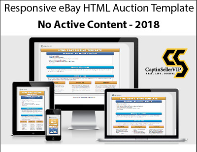 Ebay Template Responsive Listing Professional Auction Html Mobile 2018 - CS5001