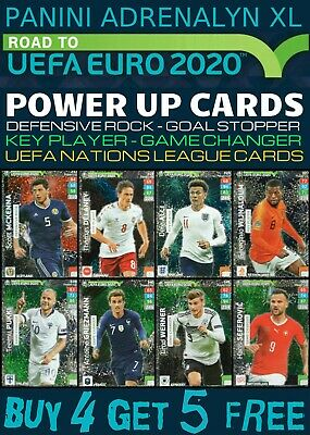 Adrenalyn Xl Road To Euro 2020 Power Up Cards - Game Changer - Key Player