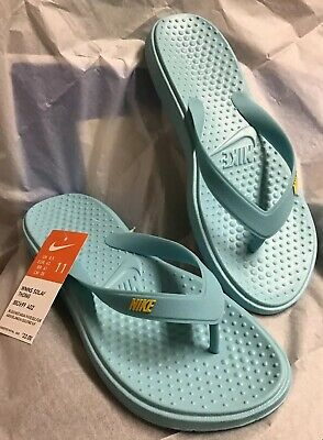 79f3ae487644 NIKE FLIP FLOPS Solay Thong Sandals Yellow Women s New NWT 882699 ...
