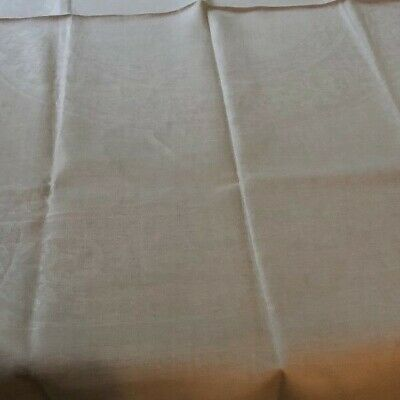 Cream Hemstitched Damask Tablecoth