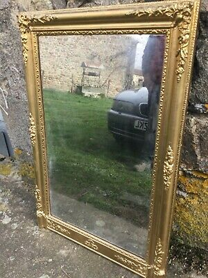Antique French Mirror size 116x79cm with foxed glass