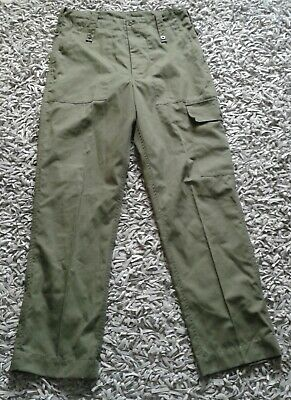 British Army Falklands lightweights lightweight combat trousers OD Green vintage
