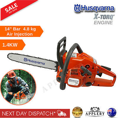 "Husqvarna Petrol Chainsaw 14"" E-Start 2 Stroke Petrol 1.4KW Gas Chain Saw"