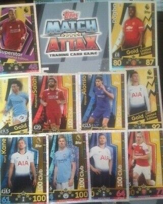 Match Attax 2018/19 18/19 Extras  Limited Editions ,100 Clubs * Hat--Trick Heros
