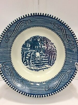 """Royal China Currier and Ives 5.5"""" Fruit/Berry Bowl """"Children At The Farm Gate"""""""