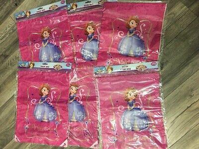 Job Lot Of Disney Kids Character Gym School Trainer PE Sport Shoe Bags X 6