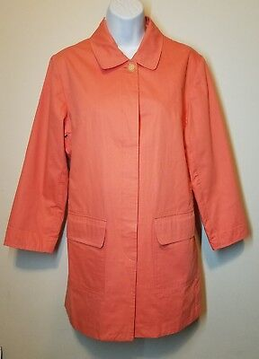 Lilly Pulitzer flamingo pink car coat women's size Small