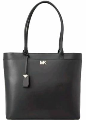 0a2b7e67bc82 Michael Kors Maddie Large North South Leather Pocket Tote Black 30T8GN2T3L  NWT