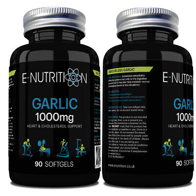 Garlic Odourless 90 Softgels Capsules | Heart Health | Blood Pressure Supplement