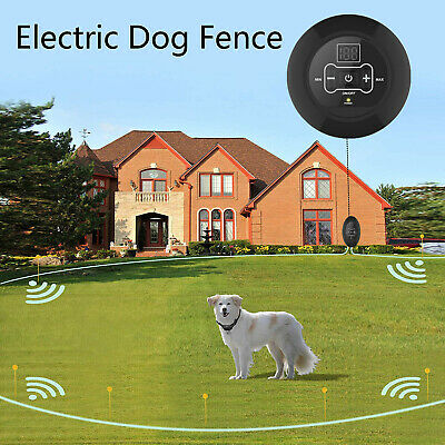 NEW Wireless Electric Dog Pet Fence Containment System Rechargeable & Waterproof