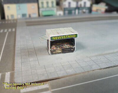 Z Scale Building - Newsstand (Cover Stock PRE-CUT Paper Kit) NS2Z