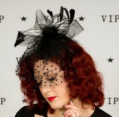 Beautiful purple feather Gwyther  Snoxells 'My Hat' fascinator Wedding Races