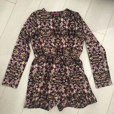 c868668614a BOOHOO SIZE 10 Long Sleeve Floral Playsuit - EUR 6