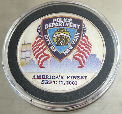 """america's Finest"" Police Department Nypd  9 11 2001 .999 Fine Silver 1 Troy Oz"