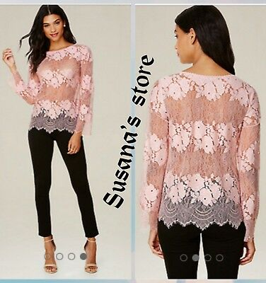 NWT bebe Placed Lace Top SIZE S Gorgeous, seductive style!! $68.00