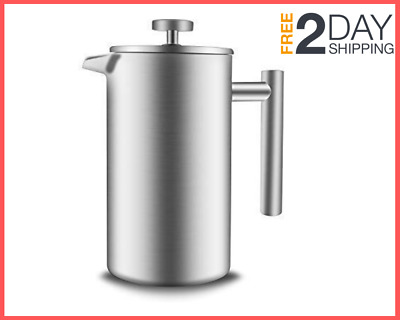 34oz Double Wall Stainless Steel French Press Coffee Coffee and Tea Maker