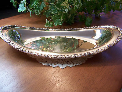 "National Silver Plate on Copper Bowl DishTray Plate 12-7/8"" Au Gratin Oval HEAVY"
