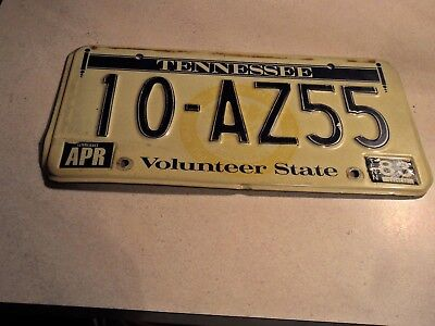 1983  STAMPED Tennessee License Plate Volunteer State 10-AZ55