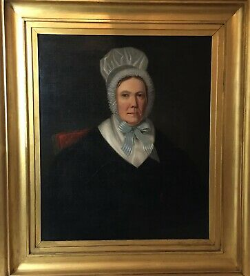 Very Large Fine English School 19th C Oil Painting Portrait Of A Lady. Provenanc