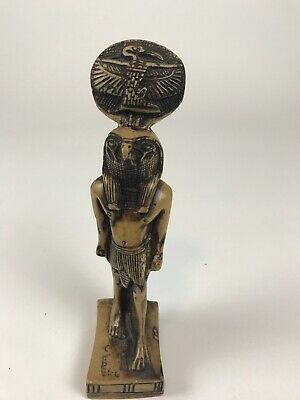 Vintage Egyptian Falcon Bird God Horus Hand Carved Statue SoapStone Sculpture