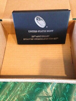 2017-S U.S. 225th Annv Enhanced Uncirculated Coin Set OGP Out Of Sealed Mint Box