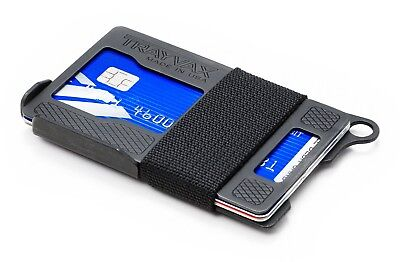 Dango Products Jet Black T01 Tactical EDC Wallet RFID Blocking WCapsule /& Cords