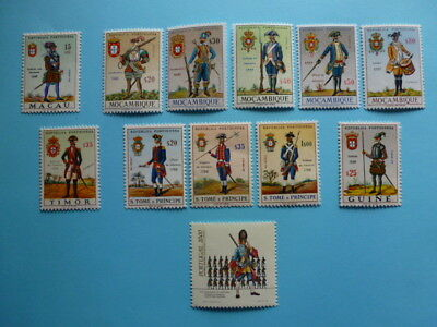 Lot 5334 Timbres Stamp Militaires Anciens Macao/Mozambique/Divers Annee 1965-85