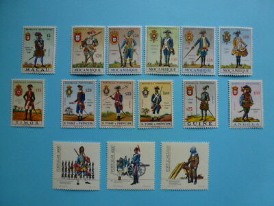 Lot 5333 Timbres Stamp Militaires Anciens Macao/Mozambique/Divers Annee 1965-85