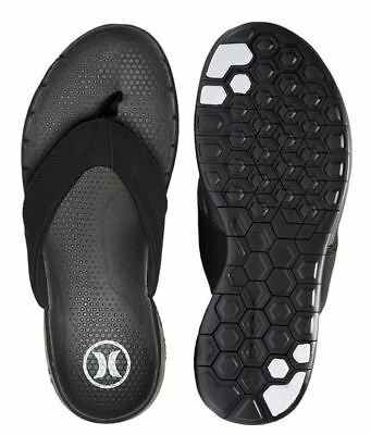 91ef42d8e Hurley Phantom Size 8 Sandals NIKE FREE 5 TECHNOLOGY Black Thongs NEW Flip  Flops