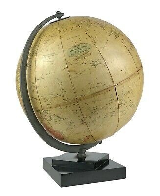 "C20th PHILIPS 10"" CHALLENGE GLOBE GEOGRAPHICAL TERRESTRIAL MAP & STAND"