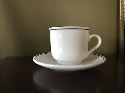 arcopal arp13 Cup and Saucer - green trim