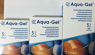 HYDROGEL sterile dressing treatment for difficult wounds burns uclerations new