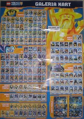 lego nexo knights serie 2 trading card game ultra limited edition premium puzzle
