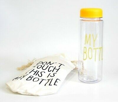 ~Saldi Bottiglia THIS IS MY BOTTLE Originale 500ml Giallo Yellow + Bag Outdoor