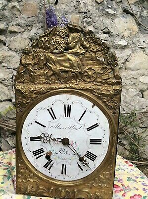 Antique french comtoise Morbier clock 19th century Wag On Wall Grandfather Clock